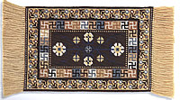 Коричневый ковер из восточного Туркестана