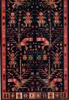 22. Фрагмент ковра с изображением антропоморфных фигур и букетов