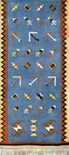 20. Фрагмент ковра с различными геометрическими мотивами