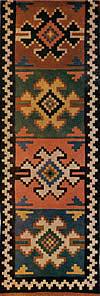 18. Фрагмент ковра — лэичера с крюковидными мотивами на расчлененном фоне