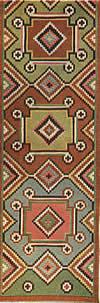 17. Фрагмент ковра — лэичера с крестовидными мотивами