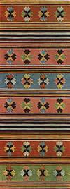 13. Фрагмент дорожки с узором из орнаментированных поперечных полос