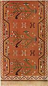 02. Фрагмент ковра с крупными изображениями деревьев