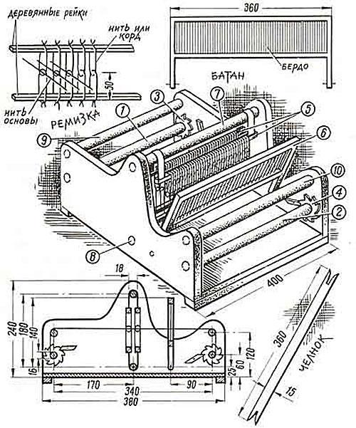 Настольный ткацкий станок